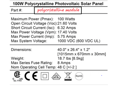 100 w Solar module