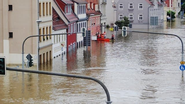 Floods in Europe Climate change