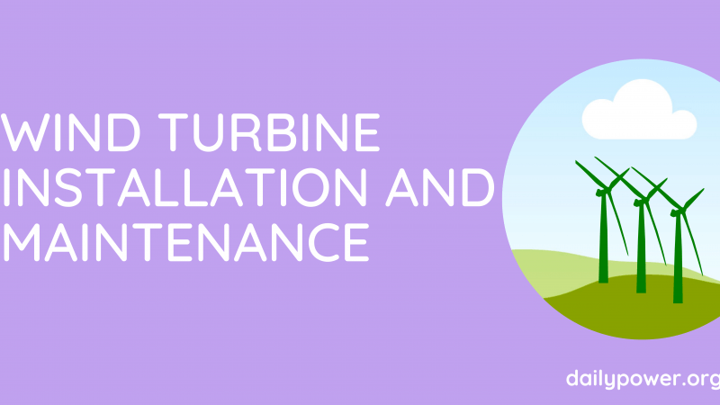 maintaining a home wind turbine